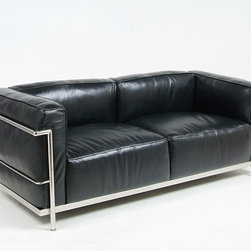 Modern Classics - Le Corbusier: LC3 Down Feathers Relaxed  Sofa Reproduction - Features: