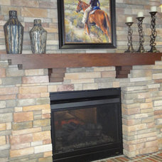 Traditional Indoor Fireplaces by LIFESTYLE KITCHENS by The Kitchen Lady