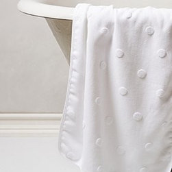"Anthropologie - Tufted Polka Dot Towel - Cotton, linenSpot cleanWashcloth: 12"" squareHand towel: 30""L, 20""WBath towel: 55""L, 37.5""WPortugal"