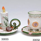 ATD - 3 Inch Festive Christmas Candle Themed Cup and Saucer Ornament Set - This gorgeous 3 Inch Festive Christmas Candle Themed Cup and Saucer Ornament Set has the finest details and highest quality you will find anywhere! 3 Inch Festive Christmas Candle Themed Cup and Saucer Ornament Set is truly remarkable.