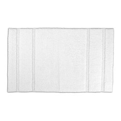 "None - Tranquility Cotton Cloud Bath Mat (24"" x 40"") - Create a tranquil setting in the bath or shower with the Tranquil Cotton collection of bath runners and rugs. With a classic design that blends with any decor, the short, soft loop pile is made of 100-percent cotton with non-skid latex backing."