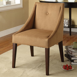"Acme Furniture - Lisandra Accent Chair in Brown Fabric - Lisandra Accent Chair in Brown Fabric; Finish: Brown Fabric; Materials: Solid wood, Gabric; Weight: 20 lbs; Dimensions: 23"" x 23"" x 38""H"