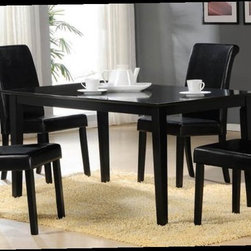 Acme Furniture - Joe Dining Set in Black (Table and 4 Chairs) - AF-70048/70050 - Set of 5