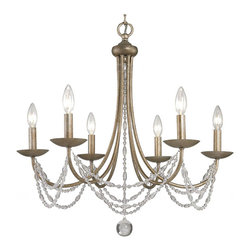 Country PHX Copper and Crystal Chandelier -