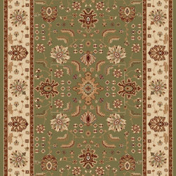 """Home Dynamix - Home Dynamix Rug, Green, 7' 10"""" x10' 2"""" - The Madlena Collection by Home Dynamix."""