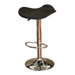 AHB Sloan Adjustable Bar Stool - Ultra-modern and comfortable the Sloan Bar Stool adds style to your bar. This stool features a comfy saddle seat that rotates 360 degrees and adjusts from 24 to 33 inches. It has a perfectly placed footrest, polished metal frame, and the saddle seat is available in a variety of color options. Please note: This item is not intended for commercial use. Warranty applies to residential use only.