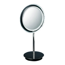 Modo Bath - Smile 302 Magnifying Mirror illuminated in Chrome 5x - Smile 302 Magnifying Makeup Mirror illuminated in Chrome, with LED Light