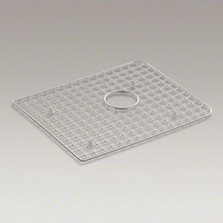 KOHLER - KOHLER Harborview(TM) sink rack, for use in right-hand bowl - Protect the bottom surface of your Harborview utility sink with this sink rack. Designed to fit in the right basin, this rack helps safeguard your fragile dishes and protects the sink's surface.