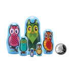 "The Original Toy Company - The Original Toy Company Kids Children Play Owl Micro - These great micro size nesting dolls range in size from 3.25"" tall to a mere 3/4"" per set Collect them all. Gender: Both. weight: 1 lbs."
