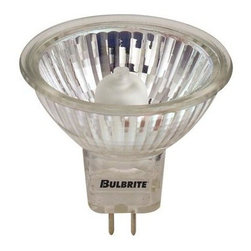 Bulbrite - Halogen Light Bulbs - 10 Bulbs (50w) - Choose Wattage: 50wOne pack of 10 Bulbs. 120 V standard GU5.3 bi-pin base MR16 bulb type. Lensed for UV stop protection. 38 degree flood beam spread. Energy efficient. Fully dimmable. Ideal for general residential and commercial application. Color temperature: 2700 K. Color rendering index: 100. Average hours: 2000. 20 watt:. Lumens: 700 CP. Center beam candle power: 160. 35 watt:. Lumens: 1250 CP. Center beam candle power: 360. 50 watt:. Lumens: 1700 CP. Center beam candle power: 600. Clear and bright white light color. Maximum overall length: 1.88 in.
