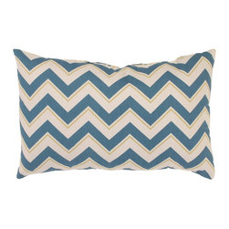 Pillow Perfect - Pillow Perfect Chevron Seaport Rectangular Throw Pillow Multicolor - 473918 - Shop for Pillows from Hayneedle.com! The Chevron Rectangular Throw Pillow in Seaport blends nautical and contemporary style. This pillow features a reversible chevron pattern in handsome blue and off-white with beige accents. The smooth cover is made of cotton filled with polyester fiber for plush comfort. About Pillow PerfectPillow Perfect was founded by Paul and David Ratner two brothers with a passion for comfortable design stylish functionality and a commitment to pleasing their customers. With over 25 years in the business the founders of Pillow Perfect operate just North of Atlanta Georgia and have been producing products that add style and color to home and patios across the US. Keeping up with styles trends consumer needs and quality assurance makes them a major player in the industry. Their manufacturing facility brings all their ideas together and makes them a reality for customers all over the country and through drop-ship online retailers all over the world.