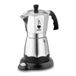 Bialetti - Bialetti 6-Cup Easy Caffe Model 7009 Espresso Machine - Tradition meets modern technology and convenience with the Bialetti 6-cup Easy Caffe. Crafted in Italy, the Easy Caffe features a built-in heating system with a convenient black electric base that makes it ideal for plug-in brewing anywhere.
