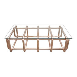 CFC Piper Coffee Table - When it comes to metals, nothing's cooler than copper. We'd love this funky table in a beach house, topped with our favorite shells and corals.