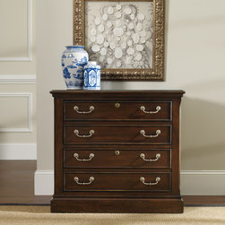 Hooker Furniture - Hooker Furniture Westbury Lateral File 5135-10466 - Two locking file drawers with pendaflex letter or legal filing system