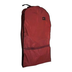 Florida Brands - Hanging Travel Coat Bag by Florida Brands - Red - Roomy front pockets for storing shoes and other accessories