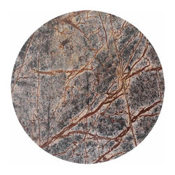 Be Home - Round Forest Marble Platter, Large, Gray - The snacks you serve your friends are fresh. But forest marble? It's a geological formation that dates back to the Middle Jurassic period!
