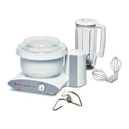 Bosch - Bosch Universal Plus Kitchen Machine, With Blender - - Includes: Mixer, Wire Whips, Dough Hook, Bowl, Splash ring & Blender.