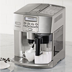 Delonghi Magnifica EAM3500 Cappuccino Center - A very nice espresso maker which cleans itself and provides perfect steamed milk. Buying a well made espresso maker is the gift that keeps on giving.