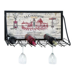 None - Vintage Vineyard Wine and Stemware Rack - The perfect size to enjoy any spur of the moment get together. A perfect thing to hang in the kitchen or dining room to always have wine nearby.