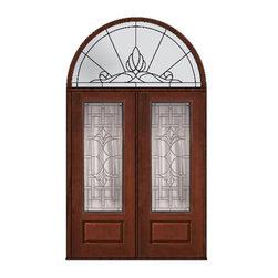 """Prehung Transom Double Door 96 Fiberglass Marsala 3/4 Lite Glass - SKU#MCR18572_DF834M2-HRUBrandGlassCraftDoor TypeExteriorManufacturer Collection3/4 Lite Entry DoorsDoor ModelMarsalaDoor MaterialFiberglassWoodgrainVeneerPrice5300Door Size Options2(36"""")[6'-0""""]  $0Core TypeDoor StyleDoor Lite Style3/4 LiteDoor Panel Style1 PanelHome Style MatchingDoor ConstructionPrehanging OptionsPrehungPrehung ConfigurationDouble Door and Half Round TransomDoor Thickness (Inches)1.75Glass Thickness (Inches)Glass TypeDouble GlazedGlass CamingSatin NickelGlass FeaturesTempered glassGlass StyleGlass TextureGlass ObscurityDoor FeaturesDoor ApprovalsTCEQ , Wind-load Rated , AMD , NFRC-IG , IRC , NFRC-Safety GlassDoor FinishesDoor AccessoriesWeight (lbs)992Crating Size36"""" (w)x 108"""" (l)x 89"""" (h)Lead TimeSlab Doors: 7 Business DaysPrehung:14 Business DaysPrefinished, PreHung:21 Business DaysWarrantyFive (5) years limited warranty for the Fiberglass FinishThree (3) years limited warranty for MasterGrain Door Panel"""