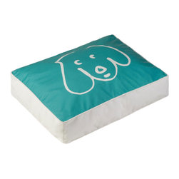 Crypton - Crypton Doodle Dog Pet Bed, Pool - The cool tones of this pet bed make it the perfect respite for your adored pooch to rest upon. You'll love the simple, whimsical design, and the easy-to-clean cover. Creativity and practicality are beautifully combined in this fun piece!