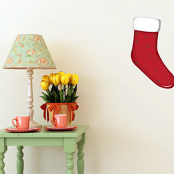 Christmas Stocking Vinyl Wall Decal ChristmasStockingUScolor008; 42 in. - Vinyl Wall Decals are an awesome way to bring a room to life!