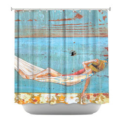 DiaNoche Designs - Shower Curtain Artistic - The Activity of Soul Resting - DiaNoche Designs works with artists from around the world to bring unique, artistic products to decorate all aspects of your home.  Our designer Shower Curtains will be the talk of every guest to visit your bathroom!  Our Shower Curtains have Sewn reinforced holes for curtain rings, Shower Curtain Rings Not Included.  Dye Sublimation printing adheres the ink to the material for long life and durability. Machine Wash upon arrival for maximum softness. Made in USA.  Shower Curtain Rings Not Included.