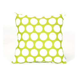 Majestic Home - Indoor Hot Green Large Polka Dot Large Pillow - Talk about a polka party — this pillow wins hands down. Made of comfy, durable cotton twill and available in your choice of colors, it makes a perfect complement to your casual decor.