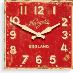 Ministry Wall Clock - Red, red, red...this clock would energize any space where it hangs.  It would be great in a rec room, office or a teenager's room for a fun bit of wall art that will keep you running on time.