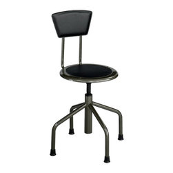 Safco - Safco Diesel Low Base with Back Multicolor - 6668-1 - Shop for Chairs from Hayneedle.com! Power up the work place with the Safco Diesel Low Base with Back and see the overall improvement in performance as well as productivity. Diesel is ideal for industrial houses and educational institutes. The leather-padded steel back steel frame and clear coat pewter finish makes it suitable for rugged use. Its low base design is great for shops or low workbench use. The nylon-coated screw lift manually adjusts the leather padded seat. It also features durable non-marring rubber feet to protect floors. The Diesel Low Base needs to be assembled. About Safco ProductsSafco products were specifically developed to meet the changing needs of the business world offering real design without great expense. Each product is designed to fit the needs of individuals and the way they work by enhancing comfort and meeting the modern needs of organization in the workplace. These products encourage work-area efficiency and ultimately work-life efficiency: from schools and universities to hospitals and clinics from small offices and businesses to corporations and large institutions airports restaurants and malls. Safco continues to offer new colors new styles and new solutions according to market trends and the ever-changing needs of business life.