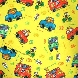 "SheetWorld - SheetWorld Fitted Pack N Play (Graco) Sheet - Animal Traffic Yellow - This 100% cotton ""flannel"" pack n play (graco) sheet is made of the highest quality fabric that's double napped. That means these sheets are the softest and most durable. Sheets are made with deep pockets and are elasticized around the entire edge which prevents it from slipping off the mattress, thereby keeping your baby safe. These sheets are so durable that they will last all through your baby's growing years. We're called sheetworld because we produce the highest grade sheets on the market today. Features the cutest animal traffic print. Size: 27 x 39. Not a Graco product. Sheet is sized to fit the Graco playard. Graco is a registered trademark of Graco."