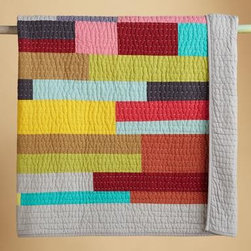 Prism Quilt - I would love to use this colorful quilt in a guest room. The blocked rectangles are so simple yet interesting.