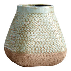 Cyan Design - Pershing Planter - Large - Large pershing planter - sandstone and blue
