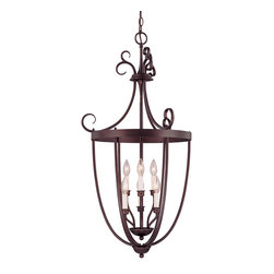 Savoy House - Savoy House 3P-80202-6-13 Entry Lantern Foyer 3 Light - Six-light open foyer pendant with rich English Bronze finish and elegant classic styling.