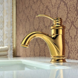 JollyHome - JollyHome Gold Deck Mounted Bathroom Basin Faucets - Complete parts and all install fittings are included.Water pressure tested for industry standard.Easy to keep clean and maintain.Ceramic valve core