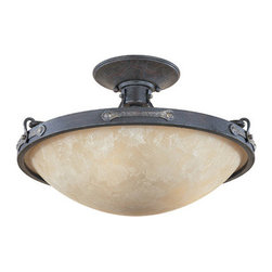 Designers Fountain - Designers Fountain 97311 Austin Three Light Down Lighting Semi Flush Ceiling Fix - Features: