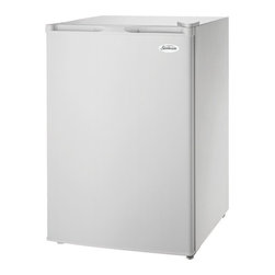 SUNBEAM - SUNBEAM SBUF3W 3.1 Cubic-ft Upright Freezer - � 3.1 cu ft capacity;� Manual defrost;� Wire shelves;� Adjustable temperature thermostat control;� Reversible door;� Recessed door handle;� White door & white cabinet