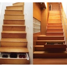 UNDER THE STAIRS HIDDEN STORAGE Great idea for the basement