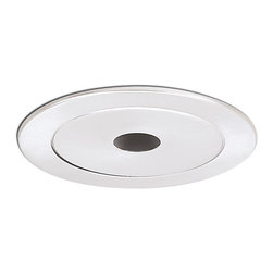 "Nora Lighting - Nora NL-440 4"" Metal Trim with 1"" Pinhole, Nl-440w - 4"" Metal Trim with 1"" Pinhole"
