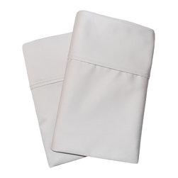 1000 Thread Count Cotton Rich Standard Stone Pillowcase Set - Cotton Rich 1000 Thread Count Standard Stone Pillowcase Set