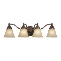 Vaxcel - Standford 4 Light Vanity - Vaxcel VL35124RBZ Standford Royal Bronze 4 Light Vanity