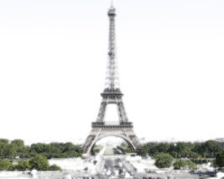 Milky Eiffel Tower Artwork - The Eiffel Tower done with a shade of Milky white.