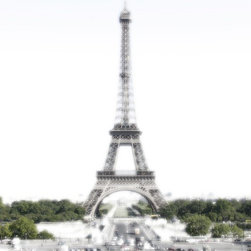 """""""Milky Eiffel Tower"""" Artwork - The Eiffel Tower done with a shade of Milky white."""