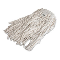 Genuine Joe - Genuine Joe Rayon Mop Head Refill - Four-ply rayon mop refill resists mildew and has a cut end. Ideal for laying floor finish. Use with most professional mop handles including Stirrup-style Metal Handle, Gripper Jaws-style Metal Handle and Quick Change Fiberglass Mop Handle (all sold separately.)