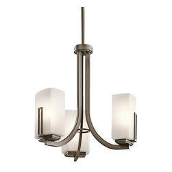 Kichler - Kichler 42425SWZ Leeds Single-Tier Mini Chandelier w/3 Lights - Stem - Kichler 42425 Leeds Mini Chandelier