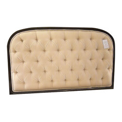 SOLD OUT! Tufted Mohair Queen Headboard and Frame - $9,200 Est. Retail - $3,500 -