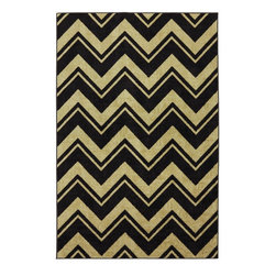 Mohawk Home - Mohawk Strata Lascala Chevron Stripe Neutral Contemporary 5' x 8' Rug (11575) - The classic chevron design has been rejuvenated with modern colors and a durable construction.  Create a pop of color or a dynamic focal point with this contemporary design. For decades, Mohawk has been dedicated to making superior quality area and accent rugs that are manufactured right here in the United States.  Packed with performance these rugs offer durability paired with beauty and affordability. You can instantly transform any room in your home with one of our luxurious, chic and durable tufted rugs.