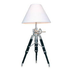 Dimond Lighting Studio Table Lamp - Tripod lamps are very popular. They add almost a nautical feel to a room.