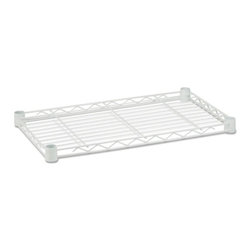 Steel Shelf-350 Lbs White 14X24 - Honey-Can-Do SHF350W1424 Powder Coated Steel Shelf 14x24, White. Create the shelving unit that suits your unique space and storage needs.  This 14x24 inch shelf is designed for use with an existing Honey-Can-Do shelving unit or can be mixed and matched to our other components and accessories to create the shelving unit of your dreams. Designed to hold 350lbs of evenly distributed weight when installed as part of a free standing unit. Pack of 4 plastic installation clips included. Clean, contemporary white finish brings a touch of modern design to any room in the home or garage.