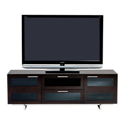 BDI - Avion II TV Stand, Triple-Wide - The Avion II TV Stand, Triple Wide has features that provide you with a better media experience. Hidden wheels, adjustable shelves, cable management. Choose from 3 color options.
